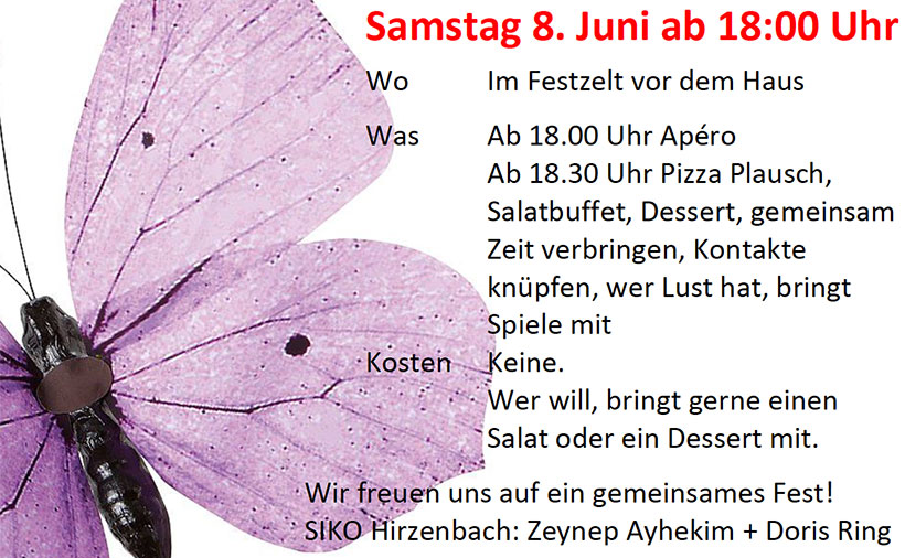 Sommerfest Hirzenbach